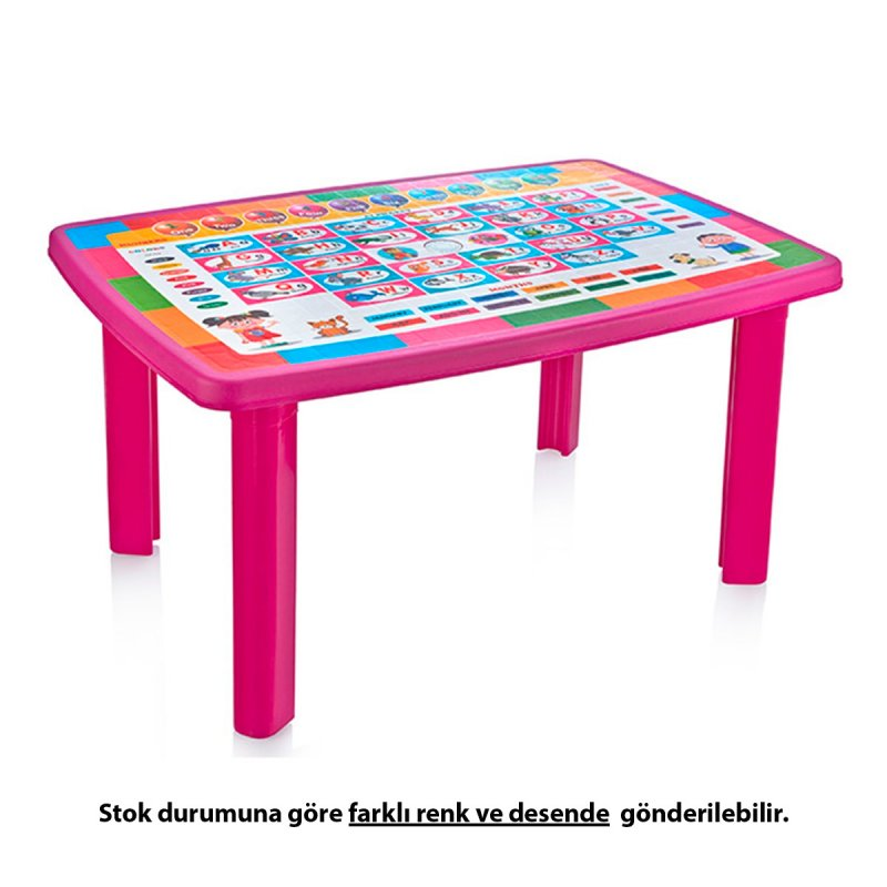 Desenli Çocuk Masası Cm-320 70x100