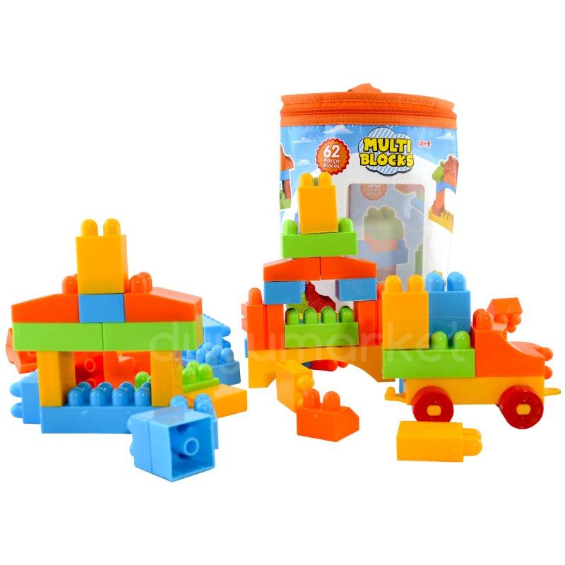 Dede - Multi Blocks 62 Parça Yapı Blokları Seti Eğitici Öğretici Oyuncak