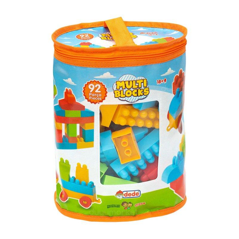 Dede - Multi Blocks 92 Parça Yapı Blokları Seti Eğitici Öğretici Oyuncak