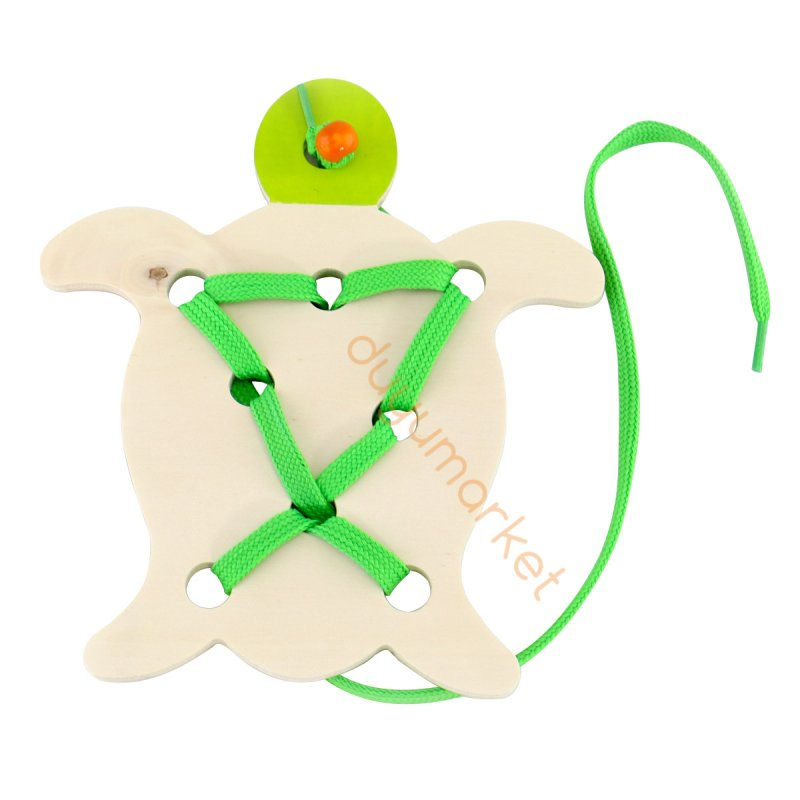 Montessori İp Geçirme Kaplumbağa