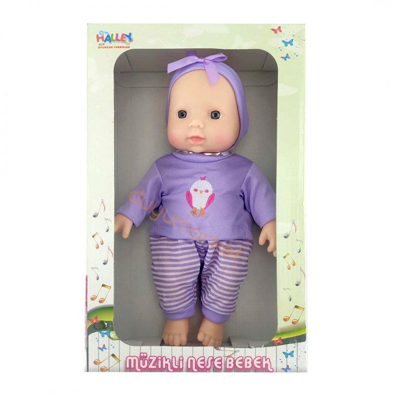 Müzikli Tulumlu Neşe Bebek 30 Cm (Lila)