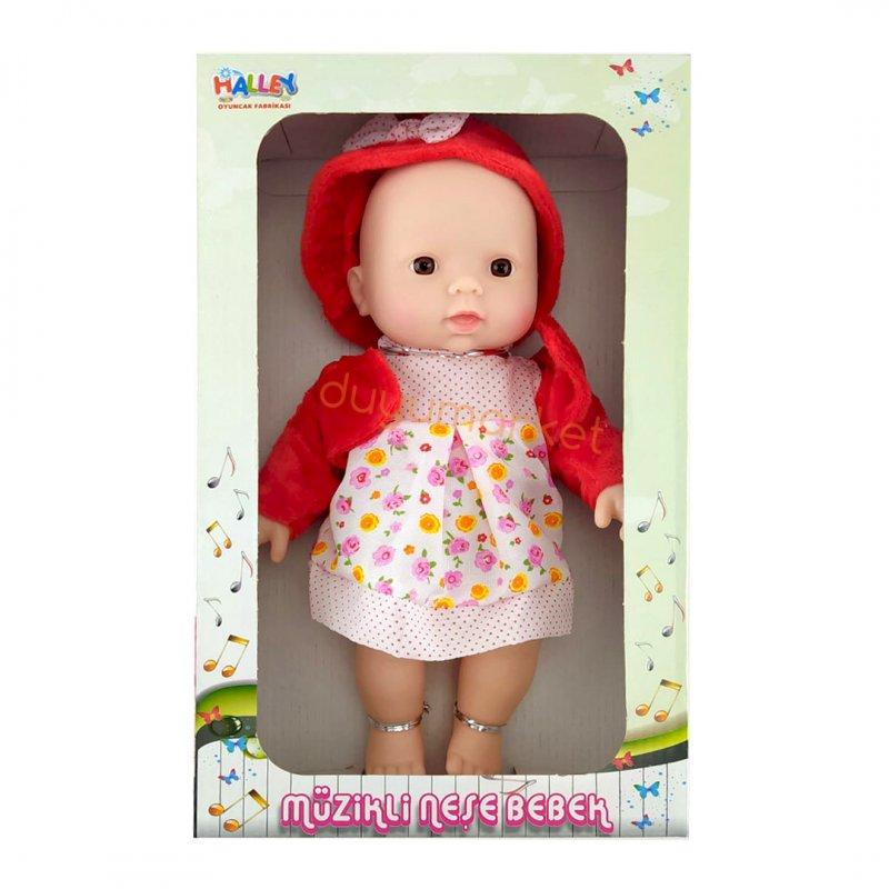 Müzikli Şapkalı Neşe Bebek 30 Cm (Kırmızı)