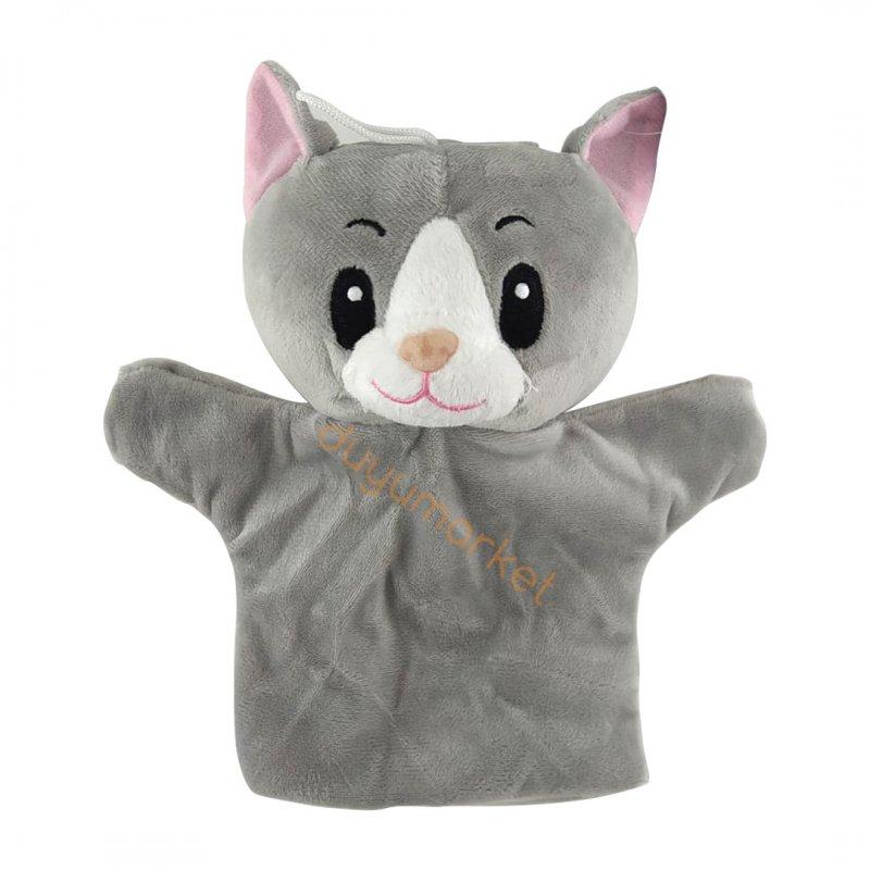 Kedi El Kuklası - Peluş - 25 Cm