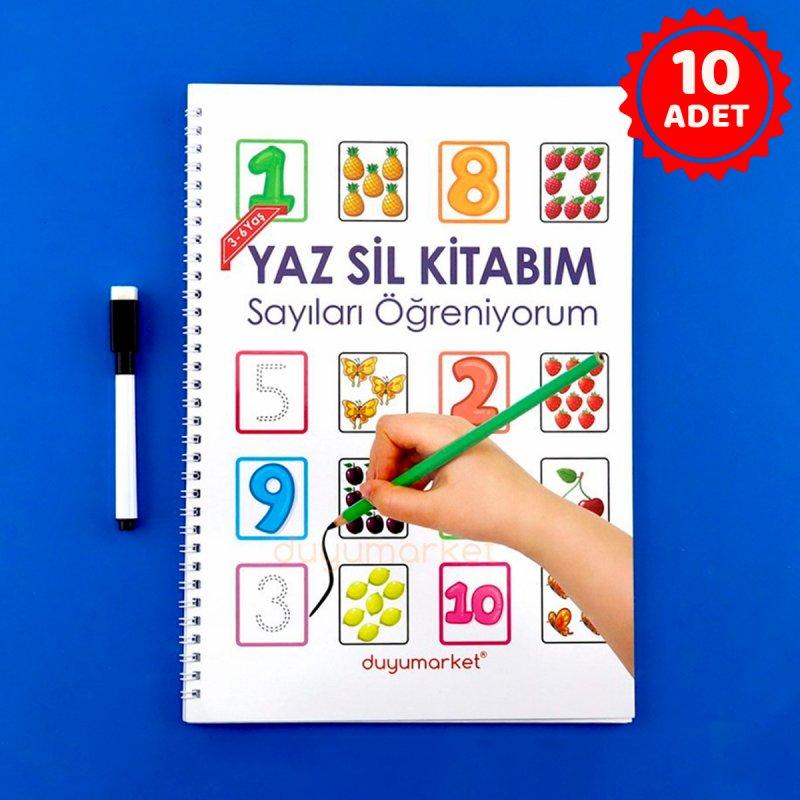 Yaz Sil Kitabım Sayıları Öğreniyorum - 10'lu Set