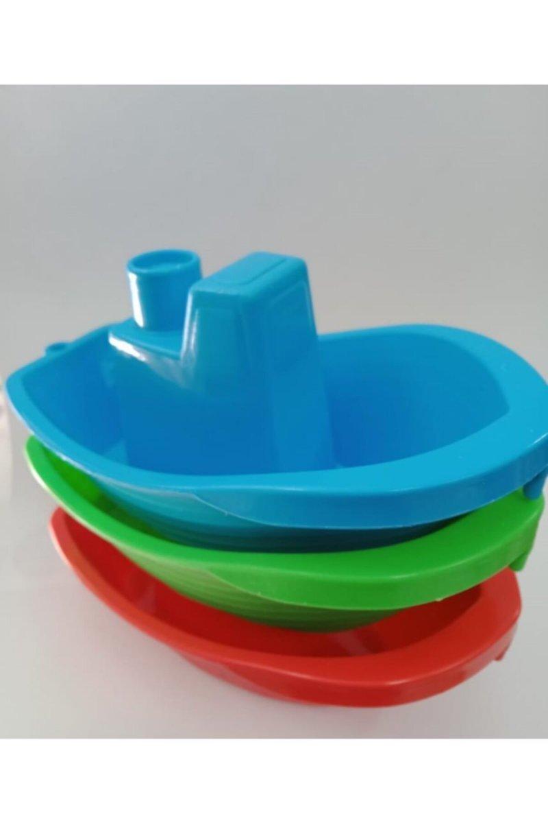 Tekne Set 3'lü Banyo Oyuncağı (Emt - 02)