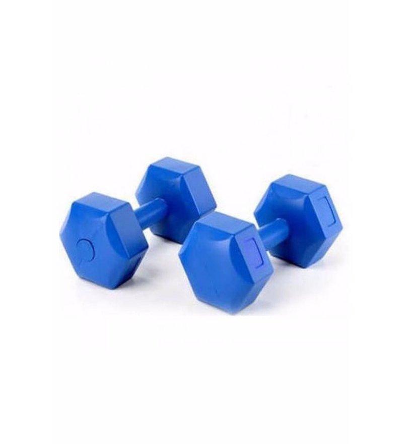 Delta 1 Kg X 2 Adet Köşeli Mavi Plastik Dambıl Ağırlık Seti - Cms810