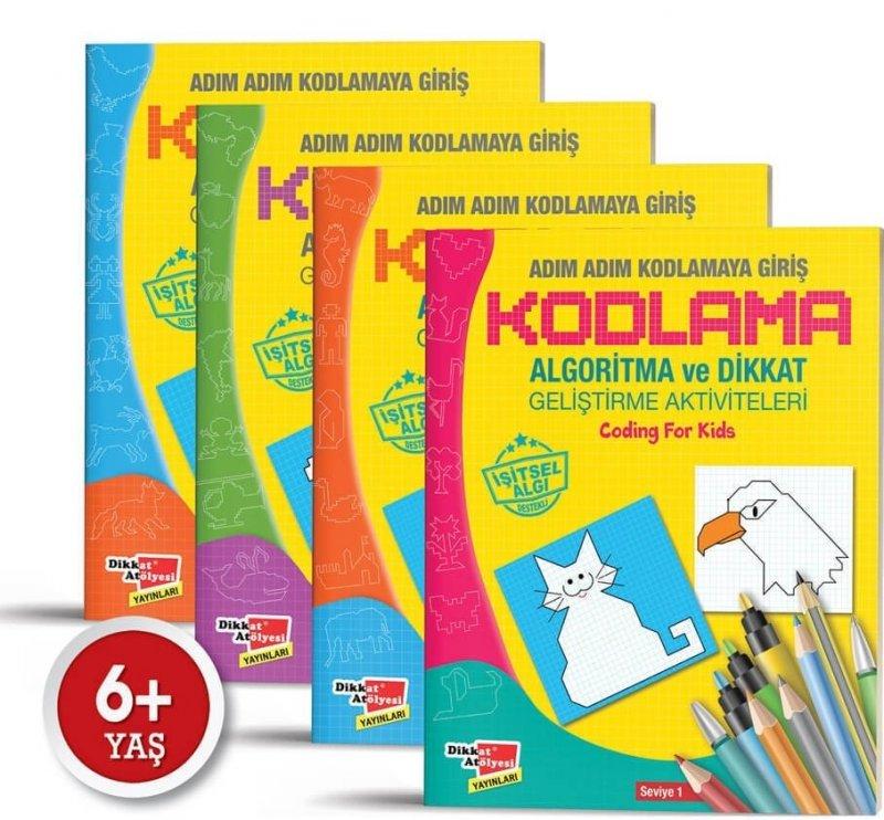 Algoritma Temelli Adım Adım Kodlama 4'lü Kitap Seti