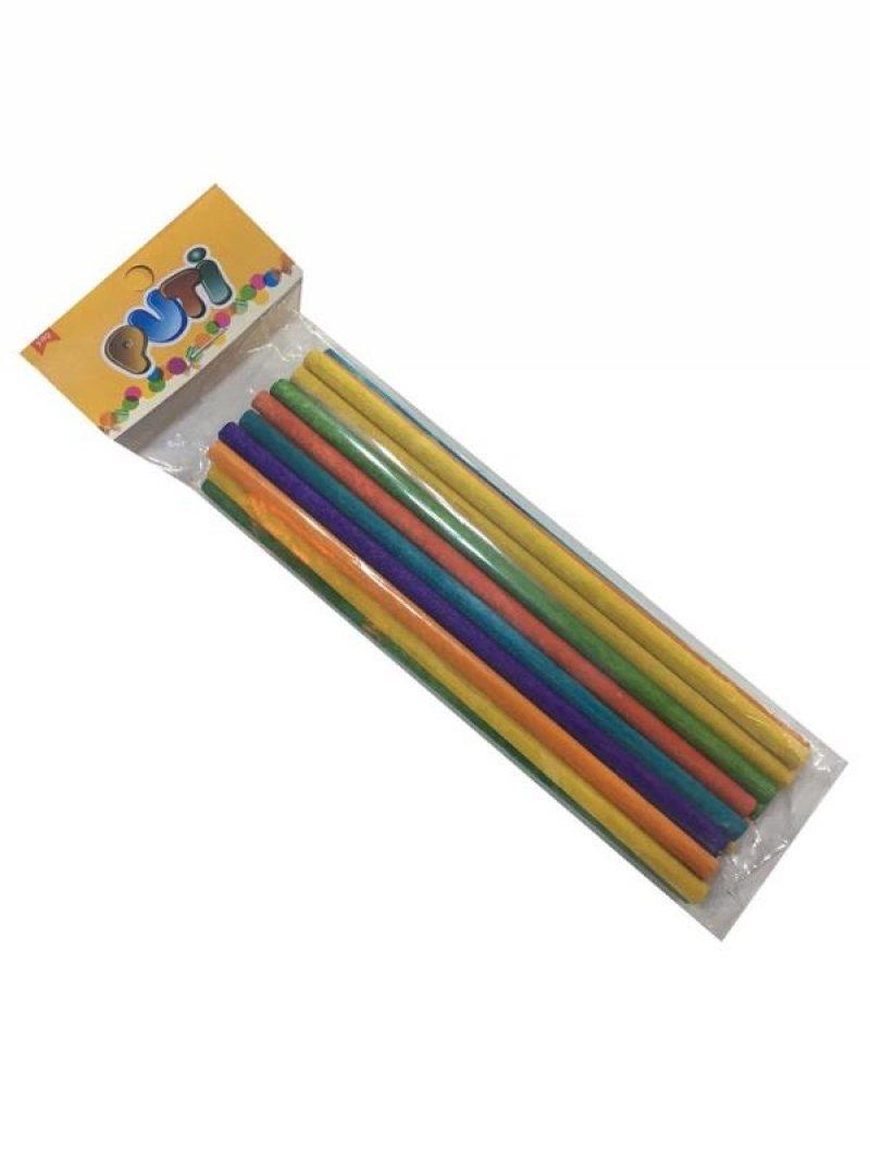 Puti Renkli Ahşap Çöp Çubuğu