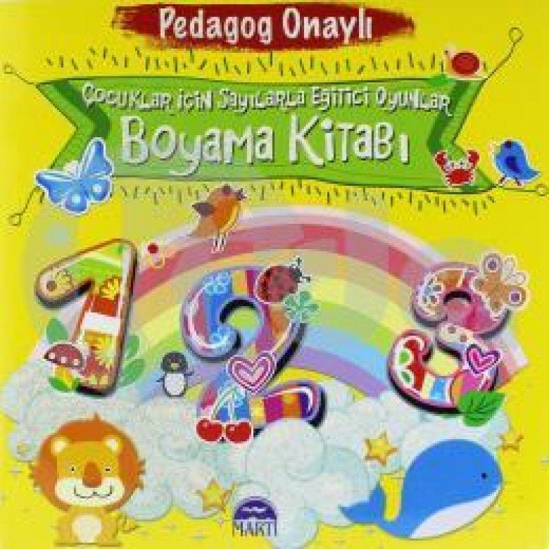 çocuklar Için Sayılarla Eğitici Oyunlar Boyama Kitabı