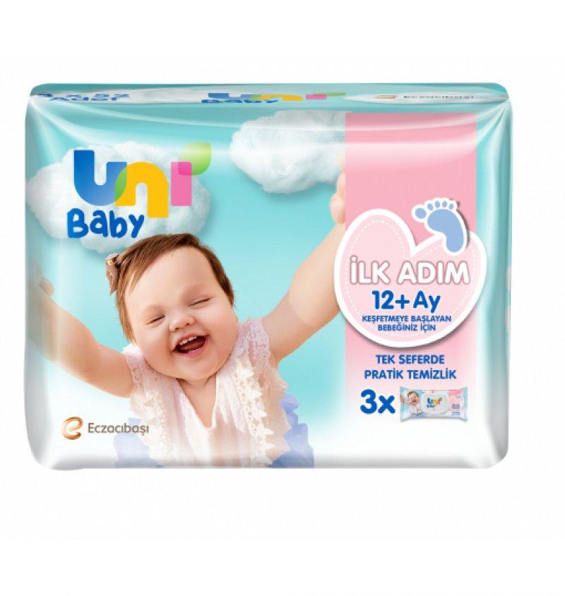 Uni Baby İlk Adım Islak Mendil 3x52 Yaprak