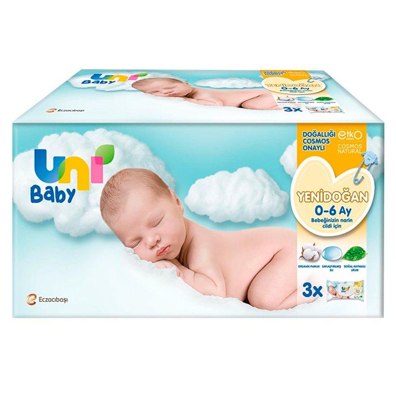 Uni Baby Yenidoğan Islak Mendil 3x40 Yaprak