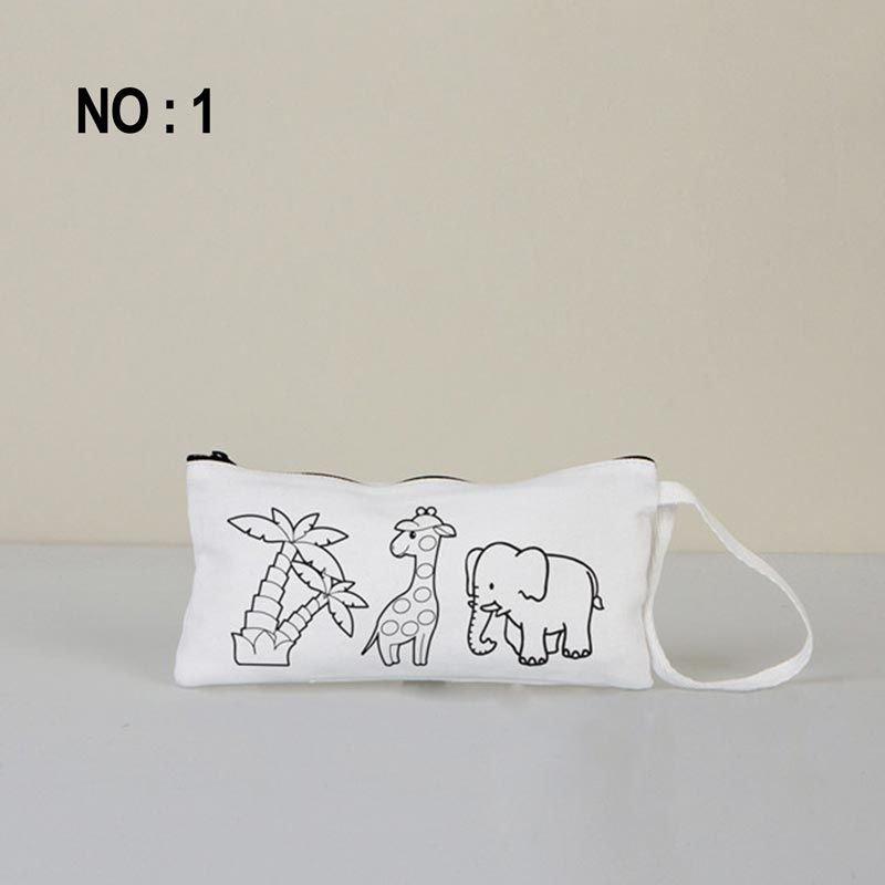Boyanabilir Bez Kalemlik Beyaz 21x10 Cm No:1 (Kalemli)