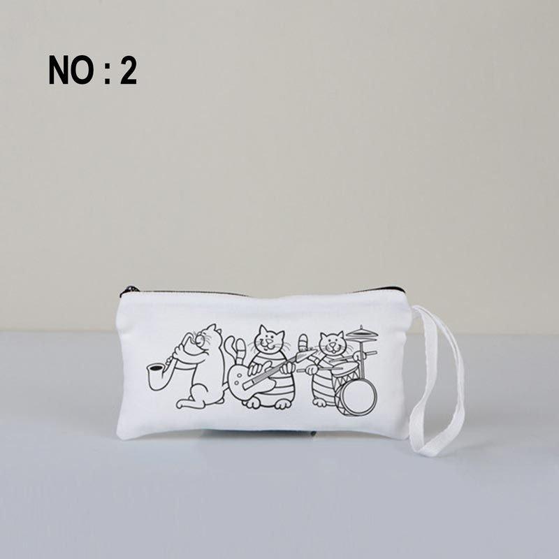 Boyanabilir Bez Kalemlik Beyaz 21x10 Cm No:2 (Kalemli)