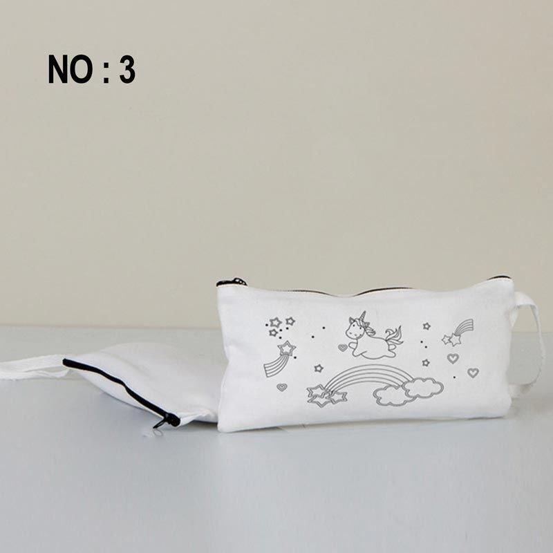 Boyanabilir Bez Kalemlik Beyaz 21x10 Cm No:3 (Kalemli)