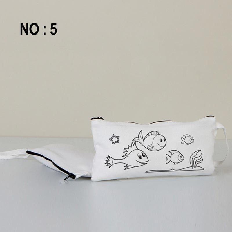 Boyanabilir Bez Kalemlik Beyaz 21x10 Cm No:5 (Kalemli)