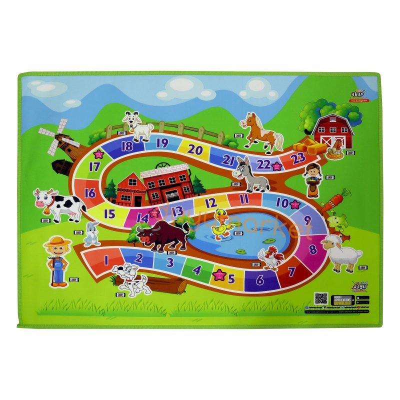 Canlanan Ve Konuşan Oyun Halısı Çiftlik (100x150 Cm)