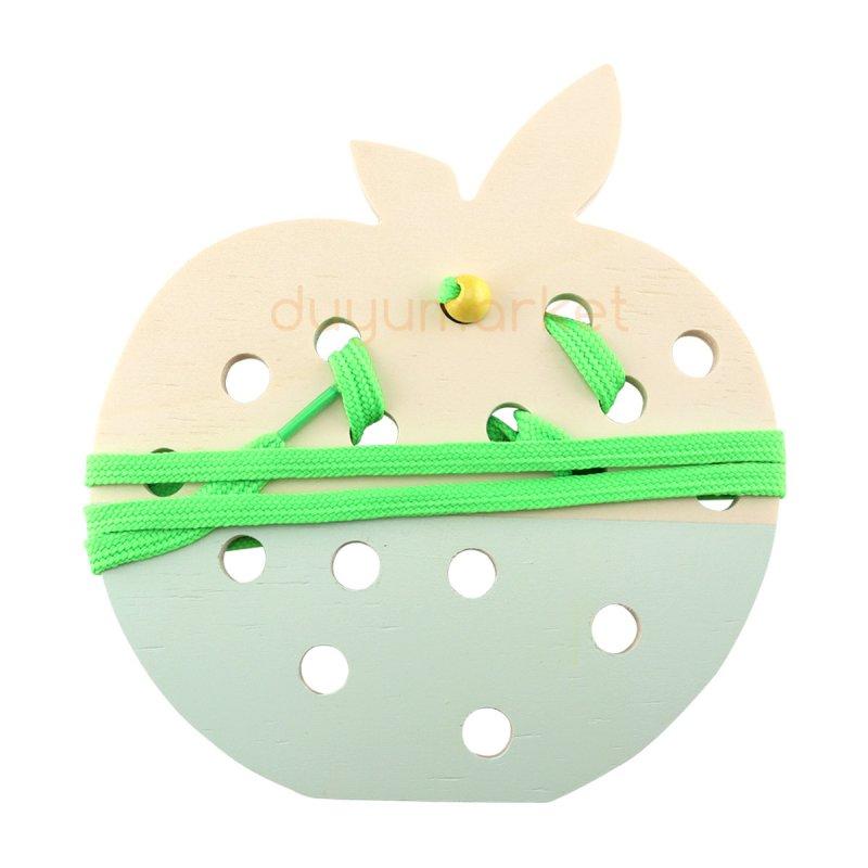 Montessori İp Geçirme Elma