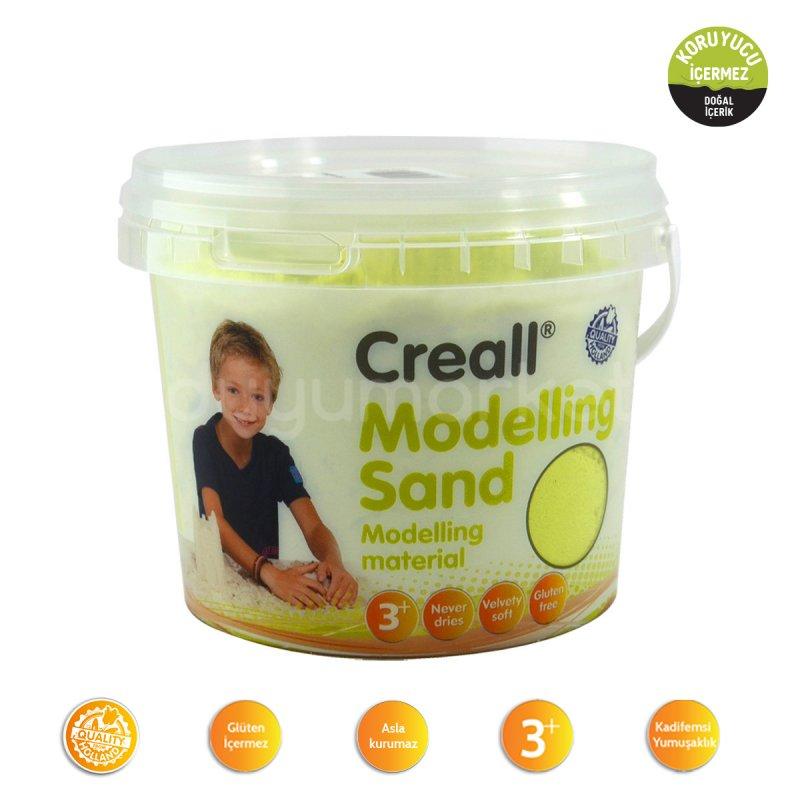 Creall Kinetik Kum 750 Gr Sarı