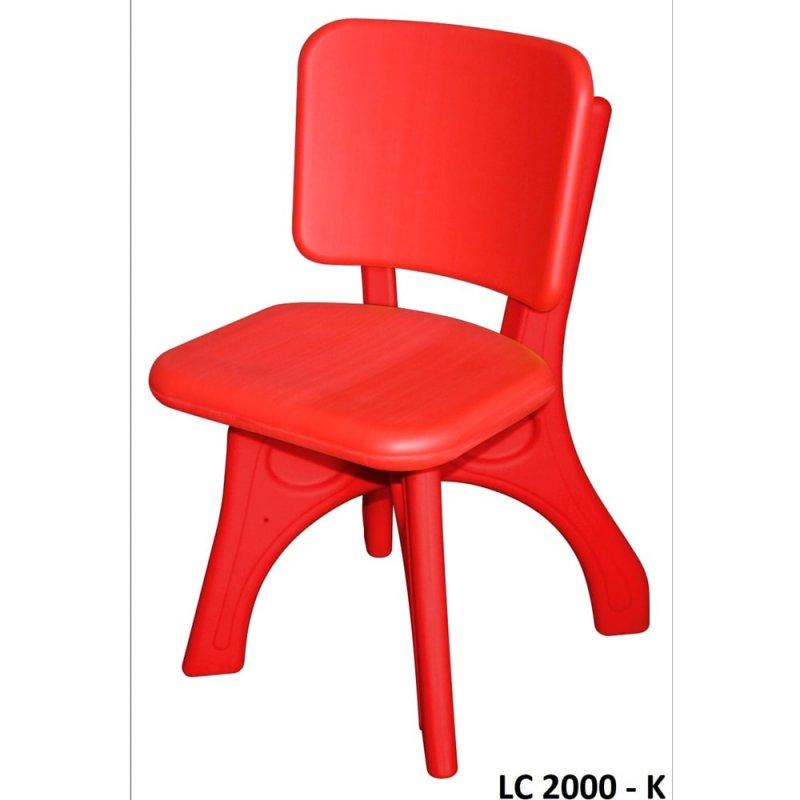 Plastik Sandalye - Kırmızı Lc-2000-k