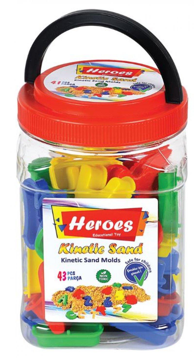 Heroes Kinetik Kum Kalıpları - Harfler Ve Rakamlar