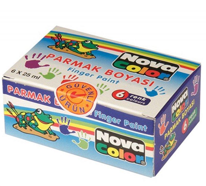Nova Color 6'lı 25 Ml Parmak Boyası