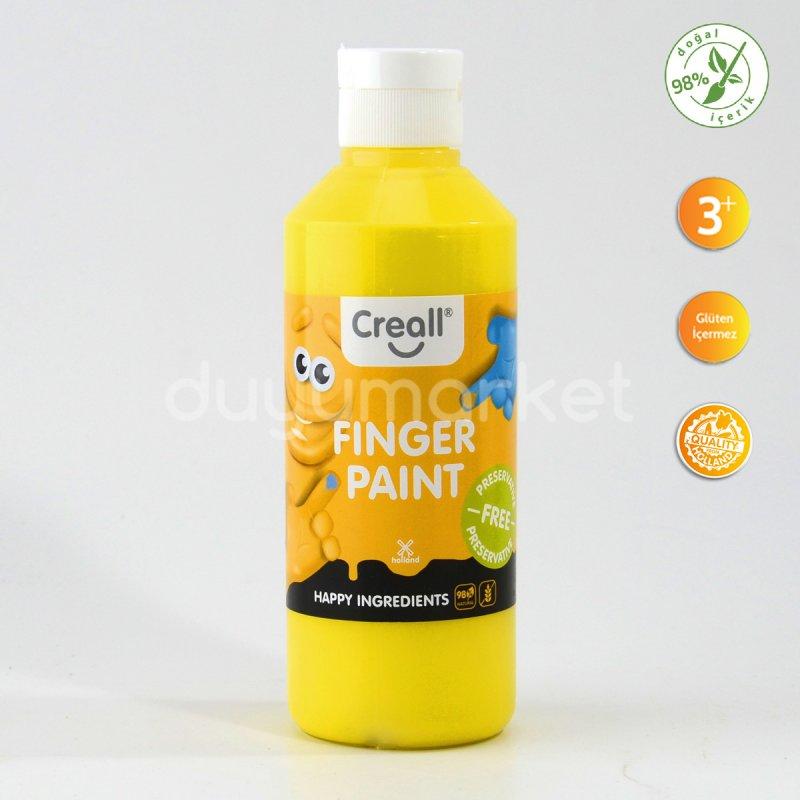 Creall Parmak Boyası ( Finger Paint ) – Sarı 250 Ml