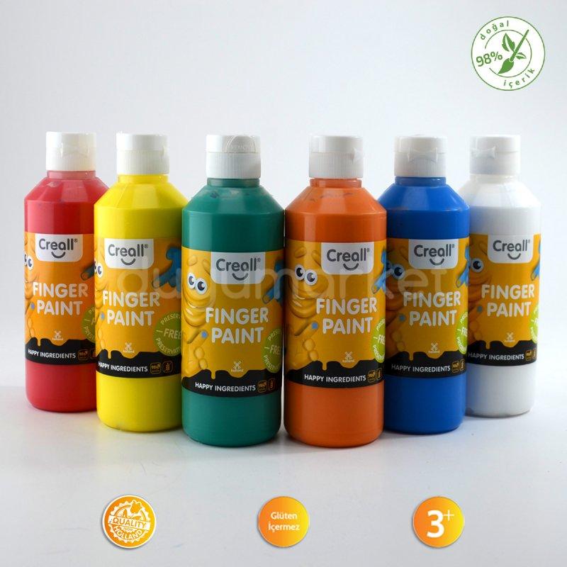 Creall Parmak Boyası - Finger Paint 6 Renkli Set