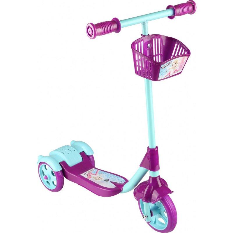Scooter - Oyuncak Sepetli Frenli 3 Tekerlekli - Mor