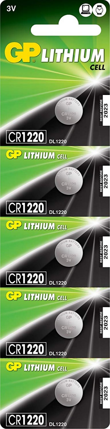 GP Lithium Cell 5'li Lityum Pil CR1220