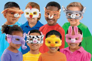Washble Dress-Up Masks Hayvanlar Maske(8 Parça )