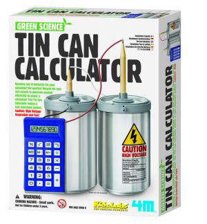 4M Green Science Tın Can Calculator  Metal Kutu Hesap Makinesi 3360