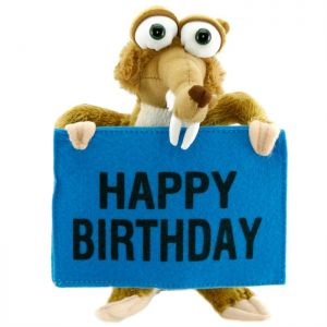 Ice Age Scrat Happy Birthday Peluş Oyuncak 22 cm
