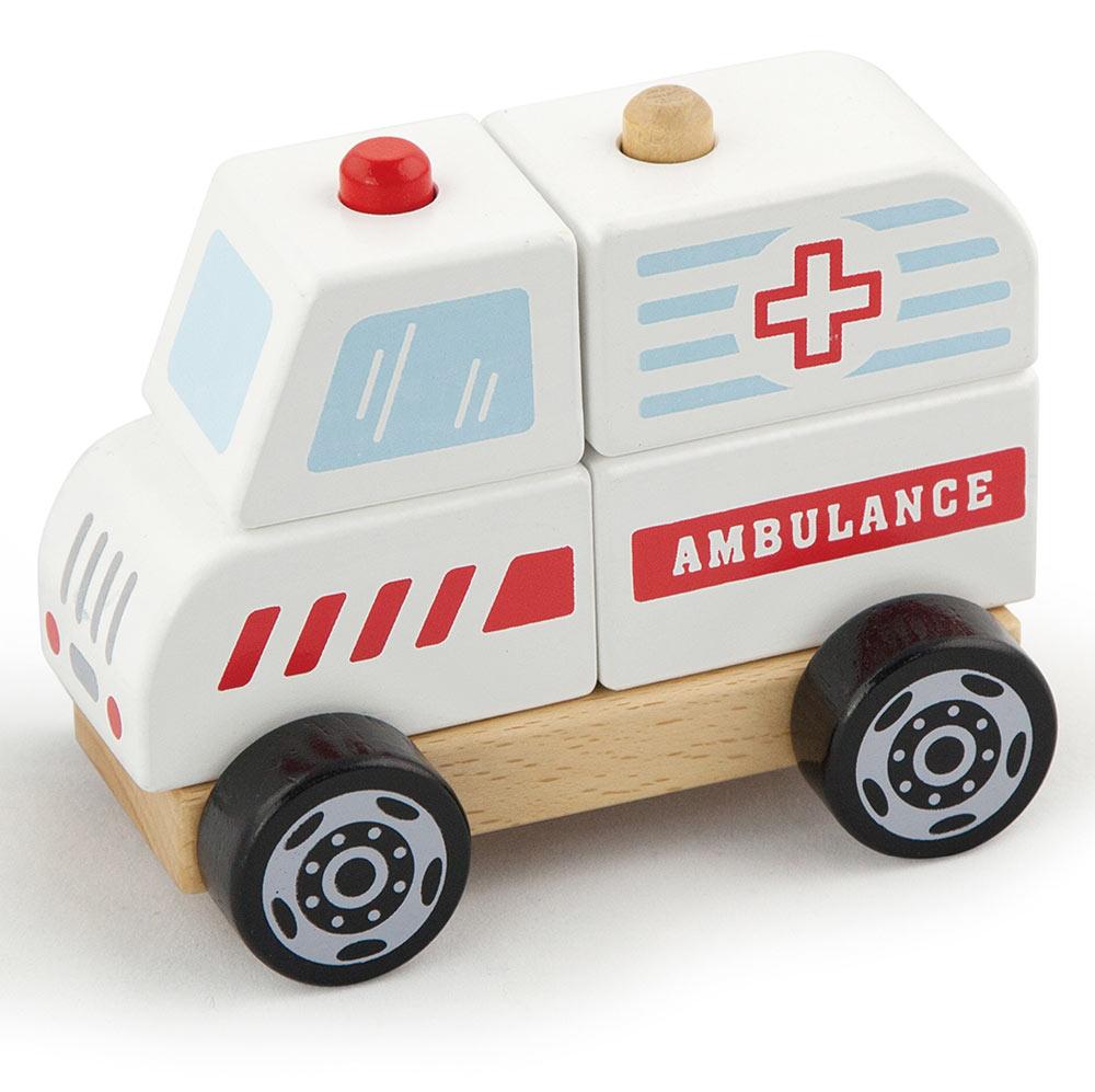 Viga Toys Ahsap Ambulans Arabasi 13x10x8cm