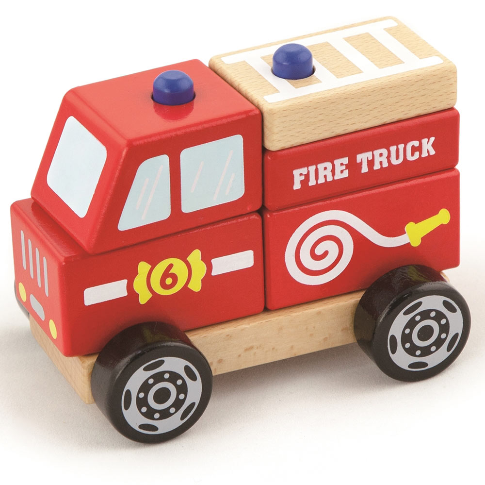 Viga Toys Ahşap Itfaiye Arabası 13x10x8cm