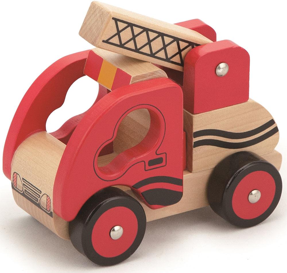Viga Toys Ahsap Itfaiye Arabasi 13x11x8cm