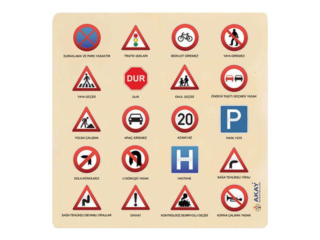 Ahşap Puzzle Trafik Işaretleri Aky Gk014a