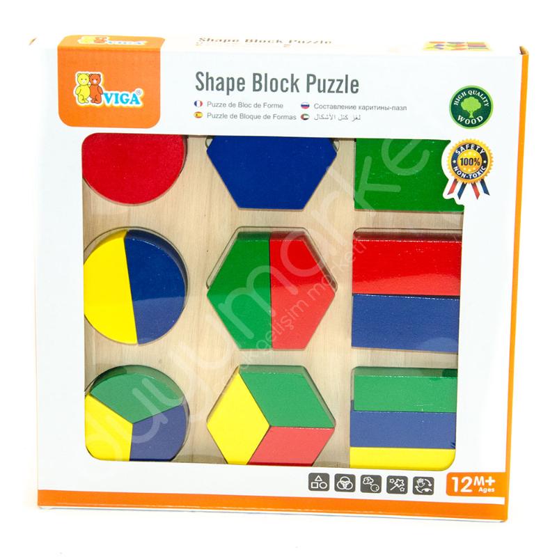Viga Toys Parça Bütün Geometrik