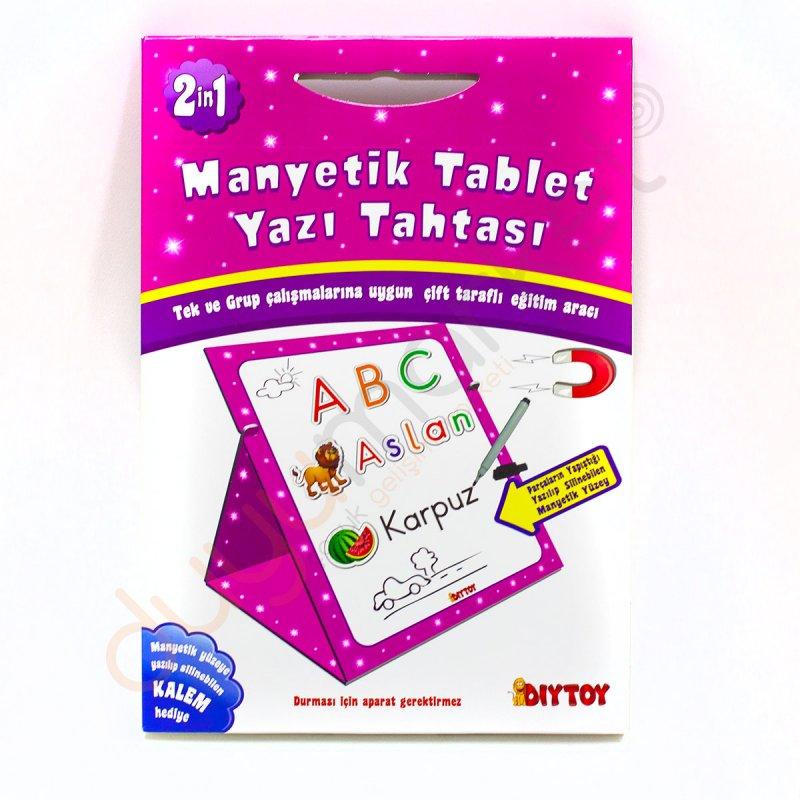 Manyetik Tablet Yazi Tahtasi Pembe