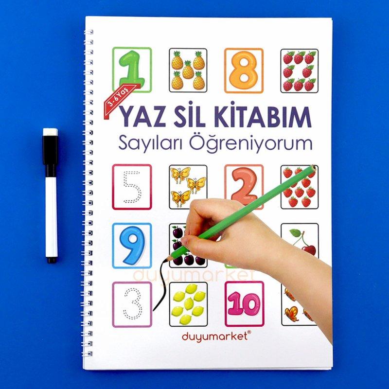 Yaz Sil Kitabım Sayıları Öğreniyorum