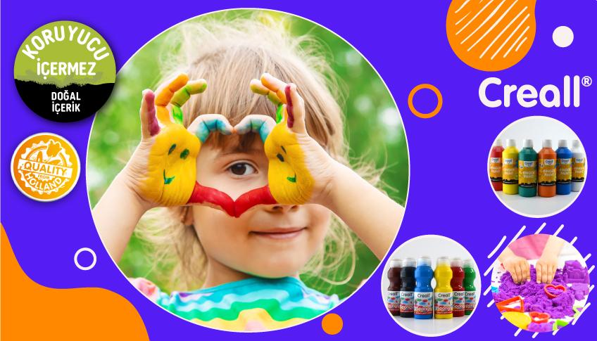 Creall kinetik kum sünger boya parmak boyası